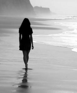 pe plaja pustie